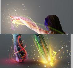 Show me the light – digital art tutorial