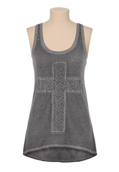 $26 love this lace cross tank.