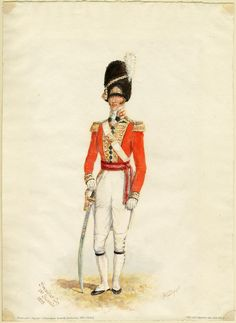 British 1st Guards, Grenadier Company, Officer, 1815 by Reginald Augustus Wymer