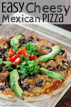 Looking for something easy for guests or a a weeknight dinner? Well, my Easy Cheesy Mexican Pizza is just the ticket! It's such an easy dish to throw together with shredded cheese… the prep takes only minutes. Cheesy…spicy…creamy and crispy… what isn't there to love about this recipe? And make it with chicken or beef. ad
