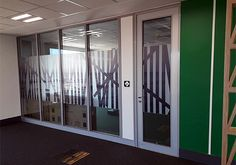The GF Serene acoustic framing system can accommodate cable installations and the glass panels, which slide into place, and are joined by a tesa® ACXplus 7058 tape, that holds the panels together. Project: BP South Africa - Oxford Park (Sound Test) - Aluglass Bautech