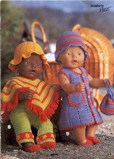 Revista Dukke Bonecas Bebê Tricô Crochê Baby Girl Shower Themes, Baby Shower Invites For Girl, Knitting Dolls Clothes, Doll Clothes, Reborn Dolls, Baby Dolls, Crochet Dolls, Crochet Baby, Baby Annabell
