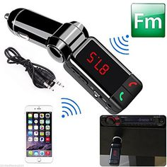 Mp3 Player Bluetooth Wireless Transmitter car kit with 2 USB Ports