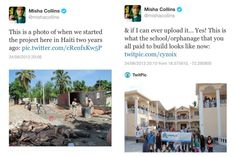 Misha Collins with his charity Random Acts!