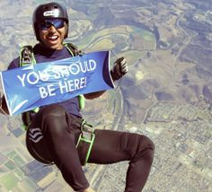 Sky diving ! And just like this !!! #YSBH #WV