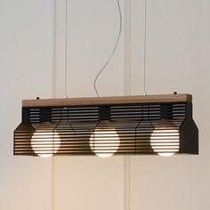 (주)바이빔 [LED] 블라인드3등 펜던트-블랙 Wooden Lamp, Nice View, Lamp Light, Lighting Design, Pendant Lighting, Beams, Blinds, Ceiling Lights, Curtains