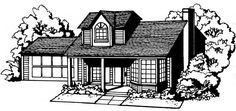 House with landscaping clip art