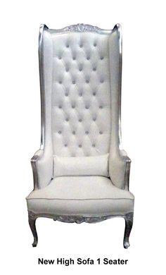 Fauteuil royal trône des mariés. Argent & blanc. #meuble #décoration #mariage