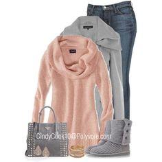 AE Heathered Cowl Neck Sweater