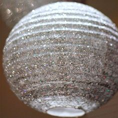 How to make fabulous glittered lanterns | Chickabug THIS would be awesome for a backdrop