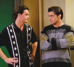 The one with this jazzy shirt. | Chandler Bing's 19 Most Heinous Outfits