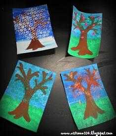 Art Room 104: Kindergarten: 4 Seasons Project (Picture Heavy Pos...