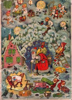 Sally Annie Magundy vintage Austrian advent calendar