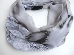 FREE SHIPPING , gray infinity scarf ,chiffon scarves ,women eternity scarf ,circle chiffon scarf , neckwarmer , gift ideas , scarf