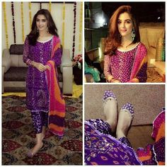 the gorgeous on her brother dholak night 😍😍 looking stunning ❤❤ Pakistani Wedding Outfits, Pakistani Dresses, Indian Dresses, Indian Outfits, Designer Kurtis, Designer Dresses, Nice Dresses, Casual Dresses, Awesome Dresses