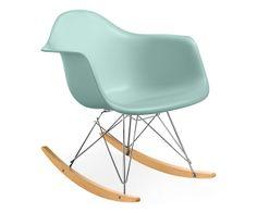 Room & Board - Eames® Molded Plastic Armchair Rocker in Aqua Sky by Herman Miller