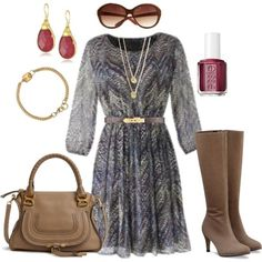 """polyvore plus size Outfits   Fashion / """"Fall Dress - Plus Size"""" by alexawebb on Polyvore............................................I love this purse!"""