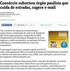 Obras em rodovias paulistas ligam governo Alckmin a outro esquema de pagamento de propinas e formação de cartel