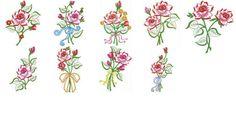 Matrizes de Bordados Grátis: ROSAS (Free Embroidery)   Ilustrações:           Observação:   Qualquer bordado disponibilizado aqui no site pode ser transformado para o formato de sua maquina.   #bordados #embroidery #free #gratis #rosas