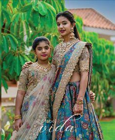 Party Wear Indian Dresses, Indian Gowns Dresses, Indian Bridal Outfits, Indian Designer Outfits, Half Saree Lehenga, Lehenga Saree Design, Kids Lehenga, Sarees, Wedding Lehenga Designs