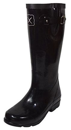 Twisted X Womens Black Rubber Wellington Mud Work Boots Mud Boots, Combat Boots, Shoe Boots, Shoes, Brown Boots, Black Boots, Black Rubber, Rubber Rain Boots, Footwear