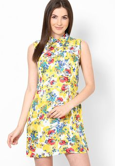 Shibori Designs Yellow Flora Zip Up Collar Dress u can buy it from-http://www.jabong.com/shibori-designs-Yellow-Flora-Zip-Up-Collar-Dress-612689.html?pos=55