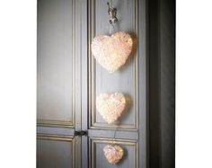 plus delivery. Set Of 3 Hanging Hearts Set of 3 battery operated light up rattan hearts. takes 3 x AA batteries (not supplied). Battery Operated Lights, Witch House, Hanging Hearts, Wedding Table Decorations, Xmas Gifts, Household Items, Decorative Items, Home And Living