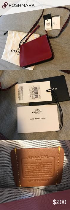 Coach Soho Crossbody - 21035 New, never worn. Coach Soho Crossbody in red glovetanned leather. Strap is adjustable and removable to use as a clutch. Was a gift. Has tags and dust bag. ⚠️Missing Coach 1941 hang tag as shown. ⚠️Pet and smoke free home. No trades. Moving and cleaning out my closet...must sell, need the cash. Coach Bags
