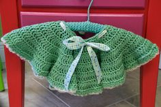 Gorgeous sage green colored crochet skirt with by Le Demoiselle, $38.00
