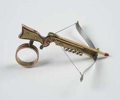 Crossbow Arrows, Crossbow Hunting, Diy Crossbow, Hidden Weapons, Besta, Steampunk Weapons, Geek Jewelry, Jewlery, Weird Jewelry