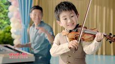 惠氏金装新配方奶粉广告 2013 张学友; 应邀和张学友拍摄惠氏的奶粉广告 […] 学琴8个月。 [learned violin for 8 months]—See more of this young violinist #from_Katacctn