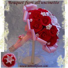 Mazzo Di Fiori Uncinetto.25 Fantastiche Immagini Su Bouquet Di Fiori All Uncinetto