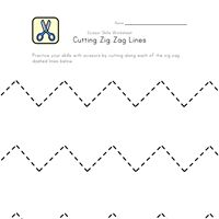 cut zig zag lines worksheet