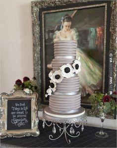 gray wedding cake | CHECK OUT MORE IDEAS AT WEDDINGPINS.NET | #weddingcakes