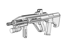 This gun paper model is a full size Steyr AUG an variant of the Steyr AUG, which is an Austrian bullpup NATO assault rifle, designed in the 1 Cardboard Paper, Paper Toys, Rubber Band Gun, Drawing Furniture, Paper Art, Paper Crafts, Steyr, Assault Rifle, Paper Models