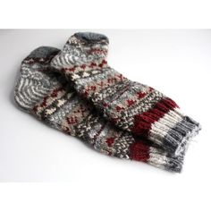 Gray Red Mixed Multicolored Pure Wool Winter Sherpa Knee High Socks... ($20) ❤ liked on Polyvore featuring intimates, hosiery, socks, boot socks & cuffs, grey, women's clothing, colorful knee socks, red knee socks, knee hi socks and colorful socks