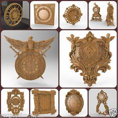 3d STL Clock Collection 10PC for CNC Router Engraver Machine Relief Artcam