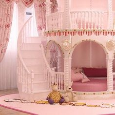 image Childrens Princess Bedrooms, Girls Princess Bedroom, Princess Room, Childrens Beds, Girls Bedroom, Princess Girl, Kids Bed Design, Cheap Bedroom Sets, Kids Bedroom Furniture