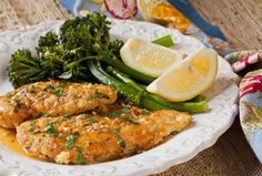 Rochester-Style Chicken French & Lemon Broccolini | The Artful Gourmet