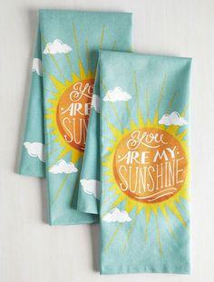 Sunbeam and Sugar Tea Towel Set