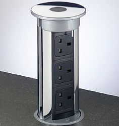 Pop-Up Outlets Kitchen Islands | The Pop Up Power Socket | Kitchen Secrets