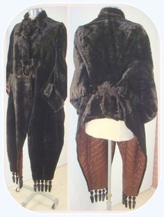 Victorian Dark Brown Velvet Visite Mantle w/ Lappets XS: Removed Winter Mode, Cloaks, Mantles, Capes, Fashion History, Magick, Dark Brown, Harem Pants, Victorian
