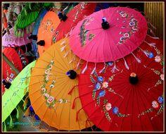 Umbrellas... by Ye Tun., via Flickr