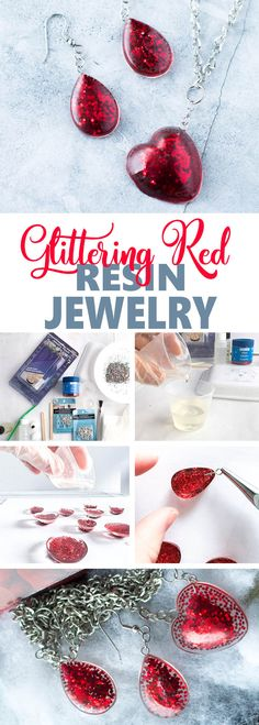 Galentine's Day DIY gift idea | Valentine's day jewelry idea with resin #resincrafts #resincraftsblog