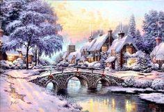 Cobblestone Christmas by Thomas Kinkade