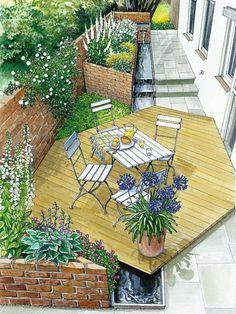Romantischer Gartenhof