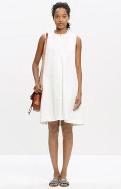 Sleeveless Shirtdress in Pure White
