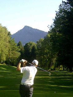 Spot the ball. 14th tee, Bad Ragaz, Switzerland.