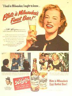Bamboo Trading: Blatz 1950 Beer Ad - Uta Hagan - Star of Street Car ...