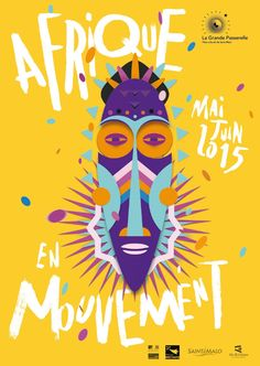 Afrique en mouvement - La Grande Passerelle © Pollen Studio I like that Web Design, Design Art, Print Design, Graphic Design Posters, Graphic Design Inspiration, Typography Design, Illustration Design Graphique, Art Graphique, Cover Design